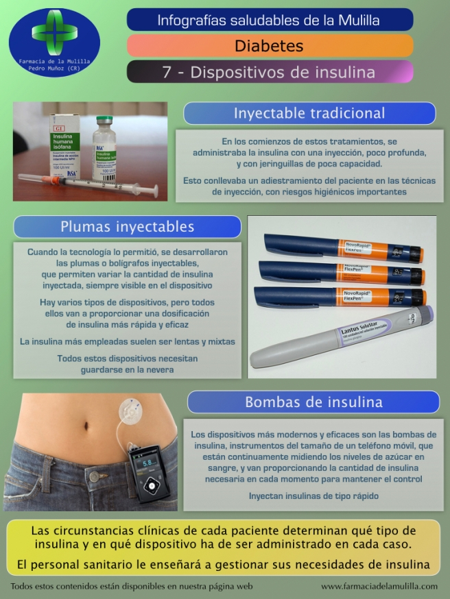 Infografia Diabetes 7 - Dispositivos insulina