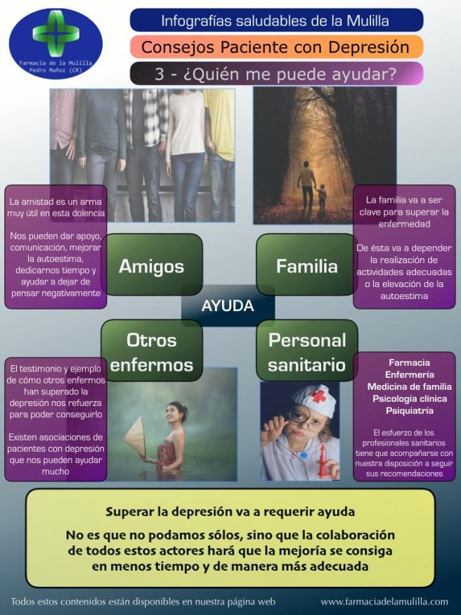 Infografia Depresion 3 - Quien me puede ayudar