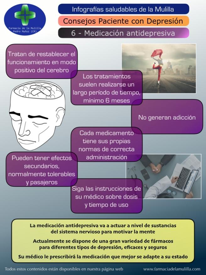 Infografia Depresion 6 - Medicación antidepresiva