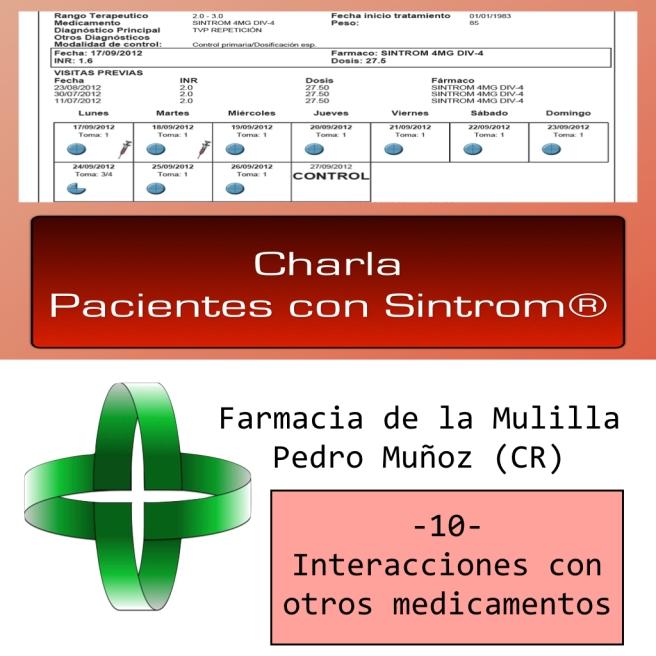 Caratula Podcast SINTROM 10 medicaciones