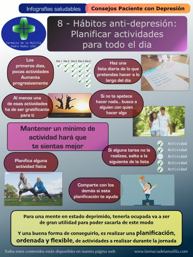 Infografia Depresion 8 - Habitos antidepresion - Planificacion actividades