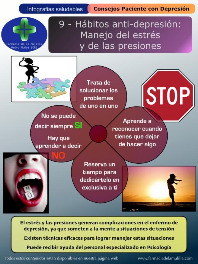 Infografia Depresion 9 - Habitos antidepresion - Manejo estres y presiones