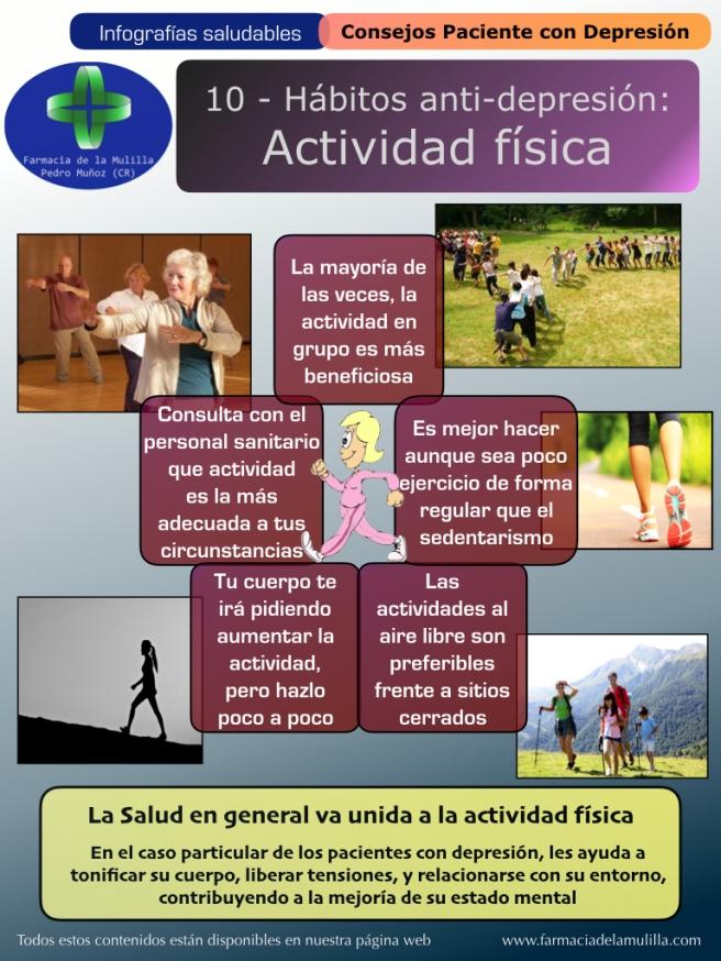 Infografia Depresion 10 - Habitos antidepresion - Actividad fisica