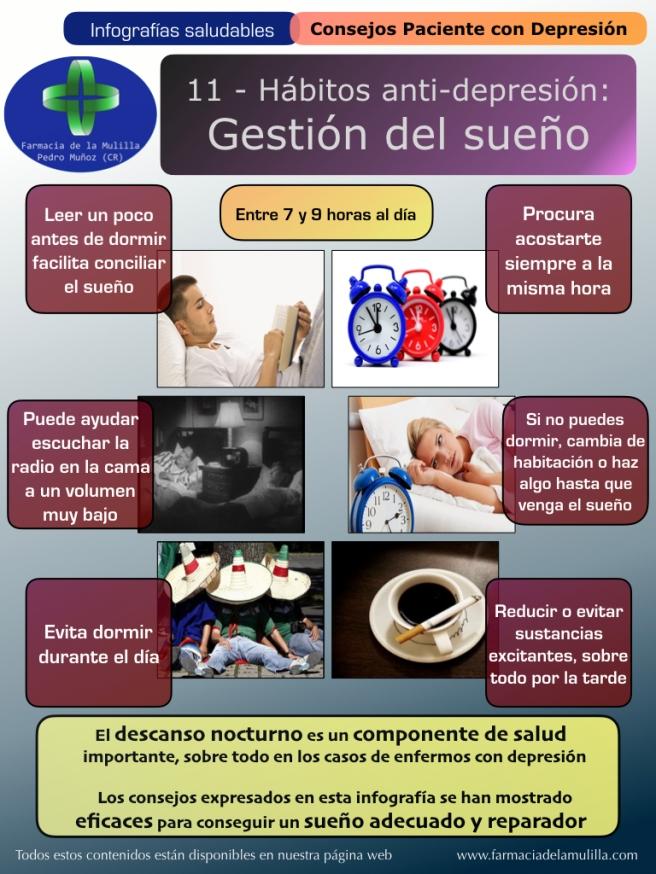 Infografia Depresion 11 - Habitos antidepresion - Gestión del sueño